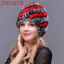 Load image into Gallery viewer, The KedStore COLOR7 Real fur hat handmade