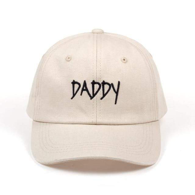 The KedStore DADDY beige 2017 new DADDY Dad Hat Embroidered Baseball Cap Hat men summer Hip hop cap hats