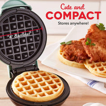 Load image into Gallery viewer, The KedStore Dash Mini Maker: The Mini Waffle Maker Machine for Individual Waffles, Paninis, Hash browns, & other on the go Breakfast, Lunch, or Snacks - Aqua