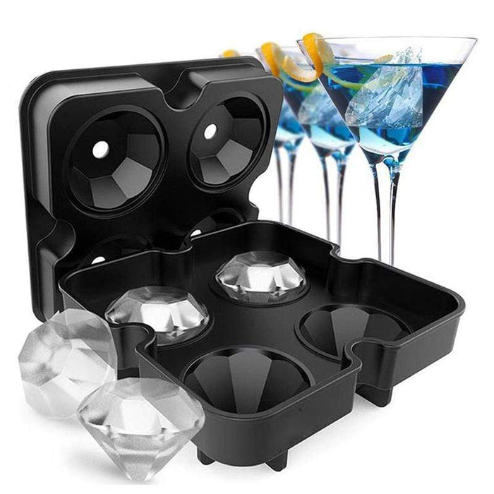 The KedStore Diamond Shape 3D Ice Cube Mold Silicone Ice Cube Tray Maker  Chocolate Mold Kitchen Tool.