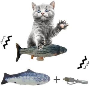 The KedStore Electronic Pet Cat Toy Electric USB Charging Simulation Fish Toys For Dog Cat