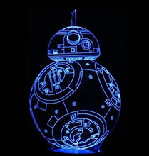 Load image into Gallery viewer, The KedStore F / Remote Touch Switch Star Wars 3D USB LED Lamp Death Star lava Night Lamp