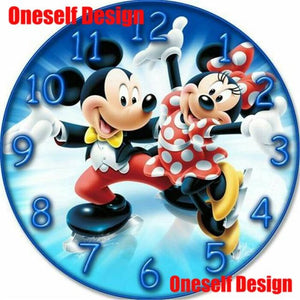 The KedStore FB0362 / 35x35cm square 5d diamond painting clock Spiderman diamond embroidery sale 5d diamond mosaic sale clock wall sticker | TheKedStore