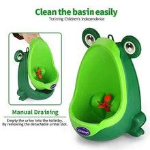 Load image into Gallery viewer, The KedStore Frog Kids Potty Toilet Urinal Boy Pee Trainer Children Wall-Mounted Toilet Baby Bathroom Urinal