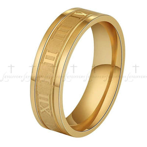 The KedStore Gold / 12 Numerals Ring