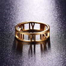 Load image into Gallery viewer, The KedStore Gold / 9 Roman Ring