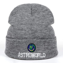 Load image into Gallery viewer, The KedStore Gray Beanie ASTROWORLD Knit Cap Embroiderd