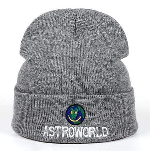 The KedStore Gray Beanie ASTROWORLD Knit Cap Embroiderd