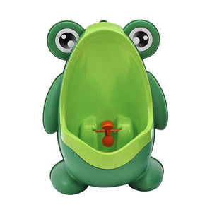The KedStore Green Frog Kids Potty Toilet Urinal Boy Pee Trainer Children Wall-Mounted Toilet Baby Bathroom Urinal