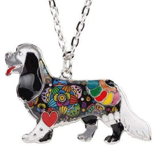 Load image into Gallery viewer, The KedStore Grey Spaniel Choker Necklace Chain Enamel Jewelry