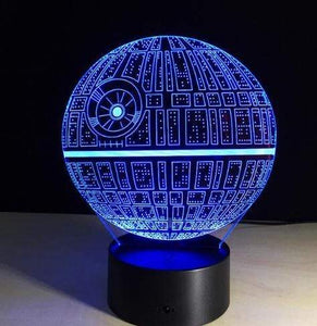 The KedStore H / Remote Touch Switch Star Wars 3D USB LED Lamp Death Star lava Night Lamp
