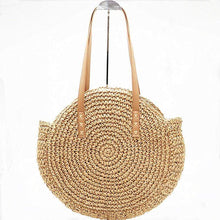 Load image into Gallery viewer, The KedStore Ladies Large handbag - hand-woven big straw bag - beach holiday bag