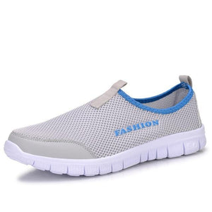 The KedStore Light Gray / 4.5 Women Light Sneakers Breathable Mesh Casual Shoes Walking Outdoor Sport Shoes