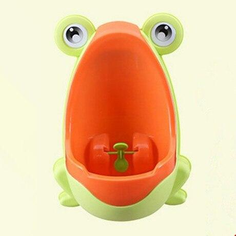 The KedStore Light Green Frog Kids Potty Toilet Urinal Boy Pee Trainer Children Wall-Mounted Toilet Baby Bathroom Urinal