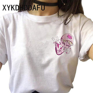 The KedStore Lil Peep Women T Shirt Hip Hop Funny Ulzzang Cry Baby T-shirt | TheKedStore
