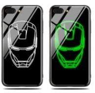 The KedStore MARVEL & DC Light Up Glowing Tempered Glass Case - Black Panther / For iphone Xs Max