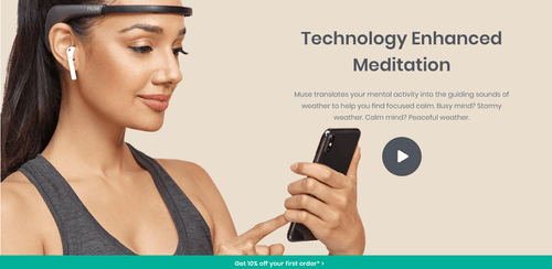 The KedStore Muse 2 - brain sensing headband. Technology Enhanced Meditation.
