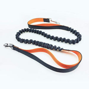 The KedStore orange Running Leash For Dogs with Elastic Waist Belt Strap for jogging, Hiking and Walking