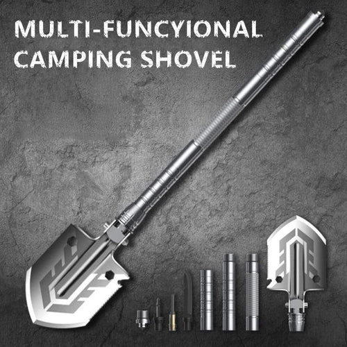 The KedStore Outdoor Multi-purpose Shovel Garden Tools Folding Military Shovel Camping Defense Security Tools