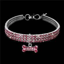 Load image into Gallery viewer, The KedStore Pink / 20cm Exquisite Bling Crystal Dog Collar