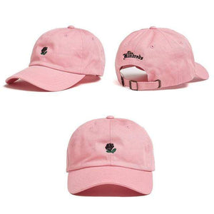 The KedStore pink Embroidery Baseball Snapback Cap