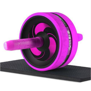 "The KedStore Purple C / 12.99""*6.61"" 2 in 1 ab roller & jump rope no noise abdominal wheel with mat for arm waist leg exercise 