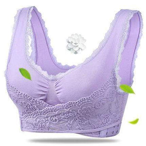 The KedStore Purple / XL Women Fitness Yoga Sports Bra Padded Push Up Bra Female Lace Crop Top Yoga Gym Shirts Sport Brassiere Tops Vest Seamless Bra