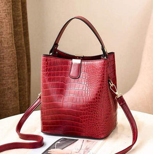 The KedStore Red / (30cm<Max Length<50cm) Crocodile Pattern Handbag Shoulder Messenger Bag