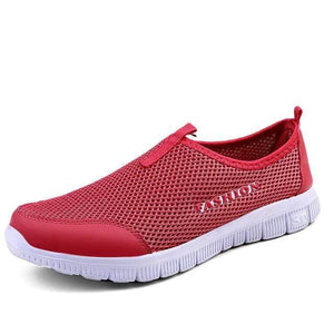 The KedStore Red / 4.5 Women Light Sneakers Breathable Mesh Casual Shoes Walking Outdoor Sport Shoes