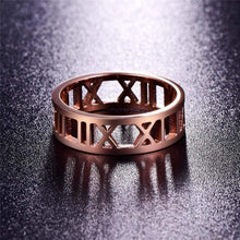 Load image into Gallery viewer, The KedStore Rose Gold / 10 Roman Ring