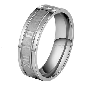 The KedStore Silver / 12 Numerals Ring