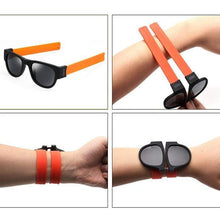Load image into Gallery viewer, The KedStore Slap Foldable Sunglasses Polarized for Men/Women Slappable Bracelet Wristband Fold Beach Sunglasses