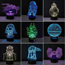 Load image into Gallery viewer, The KedStore Star Wars 3D USB LED Lamp Death Star lava Night Lamp
