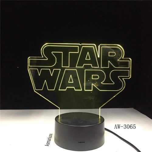 The KedStore Star Wars Logo Lamp 3D Night Light | TheKedStore