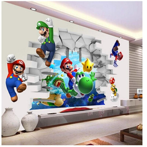 The KedStore Super Mario Bros Kids Removable Wall Sticker for Bedroom Living Room | TheKedStore