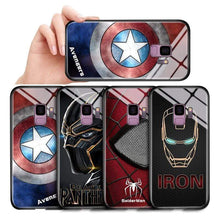 Load image into Gallery viewer, The KedStore Tempered Glass Phone Case / Black Panther, Iron Man, Spiderman, Captain America Phone Case For Samsung Galaxy S7 Edge S8 S8 Plus