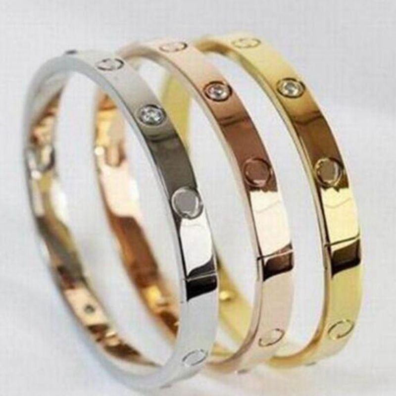 The KedStore Trending products - October 2018 Crystal Rose Gold Silver Bracelet Titanium Bangle