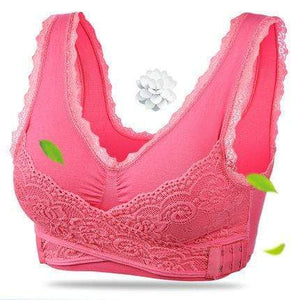 The KedStore Watermelone Red / L Women Fitness Yoga Sports Bra Padded Push Up Bra Female Lace Crop Top Yoga Gym Shirts Sport Brassiere Tops Vest Seamless Bra