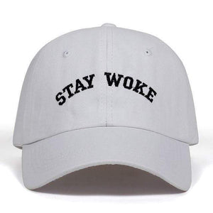 The KedStore White 2017 new Stay Woke embroidery Unstructured Dad Hat Adjustable men women fashion Cotton baseball Cap