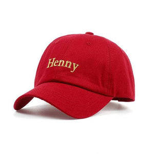 The KedStore wine red VORON 2017 new brand Henny Embroidery Dad Hat men women slouch Cotton Baseball Cap curved bill ADJUSTABLE BUCKLE RETRO SUMMER