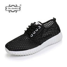 Load image into Gallery viewer, The KedStore Women Casual Shoes Mesh Breathable Antiskid Solid Color Outdoor Lace-Up Sneakers