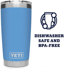 Load image into Gallery viewer, The KedStore YETI Rambler 20 oz Tumbler, Stainless Steel, Vacuum Insulated with MagSlider Lid