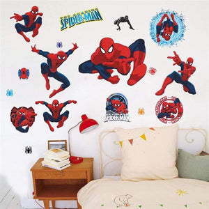 yiwu yifeibi factory customize Store (AliExpress) 3D cartoon Spiderman Wall Decals Removable PVC Wall stickers
