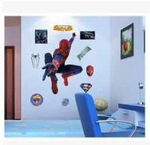 Load image into Gallery viewer, yiwu yifeibi factory customize Store (AliExpress) 9911 3D cartoon Spiderman Wall Decals Removable PVC Wall stickers