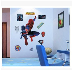 yiwu yifeibi factory customize Store (AliExpress) 9911 3D cartoon Spiderman Wall Decals Removable PVC Wall stickers