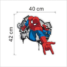Load image into Gallery viewer, yiwu yifeibi factory customize Store (AliExpress) SDM006 3D cartoon Spiderman Wall Decals Removable PVC Wall stickers