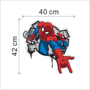 yiwu yifeibi factory customize Store (AliExpress) SDM006 3D cartoon Spiderman Wall Decals Removable PVC Wall stickers