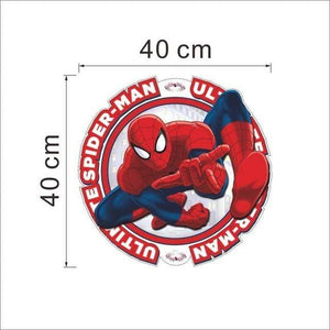 yiwu yifeibi factory customize Store (AliExpress) SDM007 3D cartoon Spiderman Wall Decals Removable PVC Wall stickers