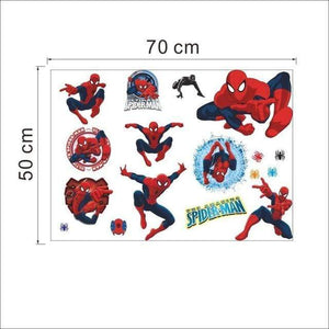 yiwu yifeibi factory customize Store (AliExpress) Y002 3D cartoon Spiderman Wall Decals Removable PVC Wall stickers