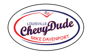 "5"" x 3"" Oval Chevy Dude Logo Sticker"